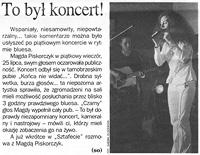 Po koncercie w Tarnobrzegu